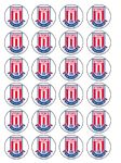 24 x Stoke Edible Wafer Paper Cup Cake Toppers